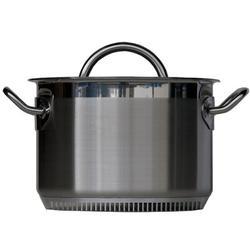 Turbo Pot Stainless Steel Standard Pot w/ LidStainless Steel in Gray, Size 8.0 H x 13.0 W in | Wayfair TPS4001