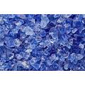 "One Stop Outdoor Multi Purpose Premium Decor & Fire Glass Rock 2-Pound 1/4""-1/2"" inch - for Use in Fire Features, Aquariums, Apothecary, Jars, Vase, Potted Plants, Fire Bowls, Etc. (Blue)"