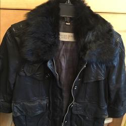 Burberry Jackets & Coats   Burberry Leather Coat   Color: Black   Size: L