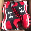 Under Armour Shoes | Authentic Mlb Under Armour Softball Cleats | Color: Black/Red | Size: 4.5g