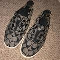 Coach Shoes | Coach Slip On Sneakers | Color: Black/Gray | Size: 7.5