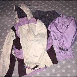 The North Face Jackets & Coats   Medium Womens Hyvent Winter Coat With Light Coat   Color: Purple/White   Size: M