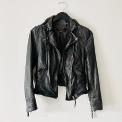 Anthropologie Jackets & Coats   Muubaa Biker Leather Jacket   Color: Black/Gray   Size: Xs