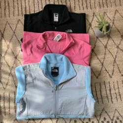 The North Face Jackets & Coats | (1) North Face Jacket (2) North Face Quarter Zips | Color: Blue/Pink | Size: Lxl Girls