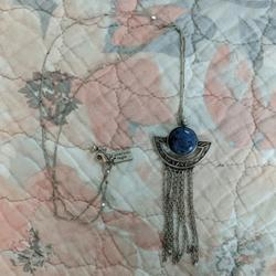American Eagle Outfitters Jewelry   Ae Stone & Tassel Necklace   Color: Blue/Silver   Size: Os
