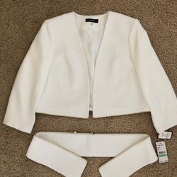 Nine West Jackets & Coats | Nine West Convertible White Jacket.$45.00 | Color: White | Size: 8