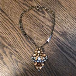 Anthropologie Jewelry | Anthropologie Necklace | Color: Blue/Orange/Silver | Size: Os