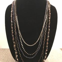 American Eagle Outfitters Jewelry | 6 Strand American Eagle Outfitters Necklace | Color: Gold/Purple/Silver | Size: Os