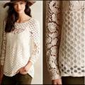 Anthropologie Tops | Anthropologie Sunday In Brooklyn Crochet Lace Top | Color: Cream | Size: Xs