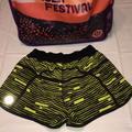Lululemon Athletica Shorts   Lululemon Seawheeze Tracker Short Iii   Color: Black/Yellow   Size: 4