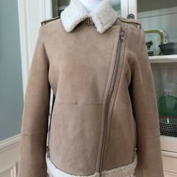 Kate Spade Jackets & Coats | Nwt Kate Spade Suede Shearling Jacket, Medium | Color: Tan | Size: M