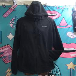 Columbia Jackets & Coats | Columbia Fleece Hooded Jacket | Color: Black | Size: M