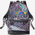Pink Victoria's Secret Bags | Vs Pink Bling Reversible Campus Backpack | Color: Black/Gray | Size: Os