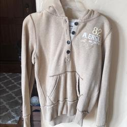 American Eagle Outfitters Jackets & Coats | American Eagle Buttoned Sweatshirt | Color: Tan | Size: L