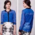 Anthropologie Tops   Anthropologie Blue Chic Versatile Lace Top Sz 0   Color: Blue   Size: 0