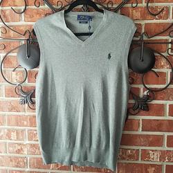Polo By Ralph Lauren Sweaters   Men'S Ralph Lauren Polo Vest   Color: Gray   Size: M