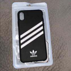 Adidas Accessories | Adidas Originals Samba Case - Iphone Xs Max | Color: Black/White | Size: Iphone Xs Max
