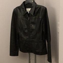 Nine West Jackets & Coats | Nine West Leather Jacket | Color: Black | Size: S