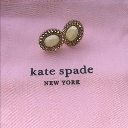 Kate Spade Jewelry | Kate Spade Earrings | Color: Gold/White | Size: Os