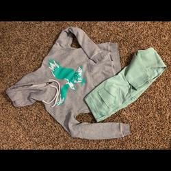 American Eagle Outfitters Other | American Eagle Jeans & Sweatshirt | Color: black | Size: Ae Jeggings Size-3, Ae Hooded Sweatshirt Size-M