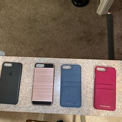 Michael Kors Accessories | 4 Iphone 8 Plus Phone Cases (Michael Kors & Apple) | Color: Blue/Red | Size: Iphone 8 Plus