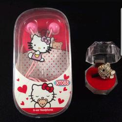 Disney One Pieces | Hello Kitty Earphones With Hello Kitty Dust Plug | Color: Red | Size: Osbb