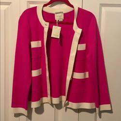 Kate Spade Jackets & Coats   Kate Spade Baxter Jacket Paris Boganvilea   Color: Pink/White   Size: L