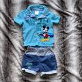 Disney Matching Sets   Mickey Mouse Outfit Toddler Boys Size 2t   Color: Blue/Gray   Size: 2tb