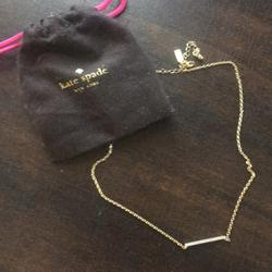 Kate Spade Accessories | Kate Spade Gold Necklace | Color: Gold | Size: Os