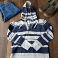American Eagle Outfitters Sweaters   American Eagle Hooded Sweatshirt   Color: Blue/White   Size: Xs