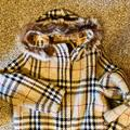 Burberry Jackets & Coats | Authentic Burberry Wool Coat With Fur Hood Trim | Color: Tan | Size: 10