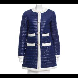 Kate Spade Jackets & Coats | Kate Spade Quilted Puffer Coat | Color: Blue/White | Size: S