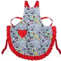 Disney Other | Disney Christmas Apron | Color: Gray/Red | Size: Os