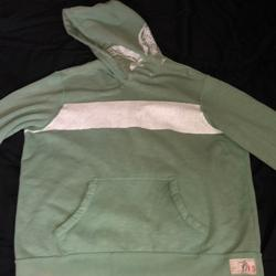 American Eagle Outfitters Shirts | American Eagle Hooded Sweatshirt | Color: Green/White | Size: Xl