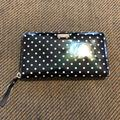 Kate Spade Accessories | Kate Spade Black And White Dots Wallet | Color: Black/White | Size: Os