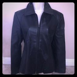 Nine West Jackets & Coats   Nine West Soft Black Fitted Leather Jacket L   Color: Black   Size: L