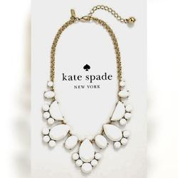 Kate Spade Jewelry   **Nwt** Kate Spade Whitegold Statement Necklace   Color: Gold/White   Size: Os