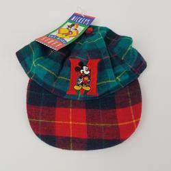 Disney Accessories   90'S Disney Mickey Mouse Plaid Letterman Kids Hat   Color: Blue/Green   Size: Osbb