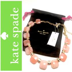 Kate Spade Jewelry | Kate Spade Peach Color Block Necklace | Color: Gold/Red | Size: 15 To 18 Adjustable
