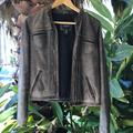 American Eagle Outfitters Jackets & Coats   Distressed Leather Jacket   Color: Brown   Size: S