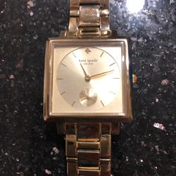 Kate Spade Jewelry   Beautiful Gold Kate Spade Watch. Rare Square Face   Color: Gold   Size: Os