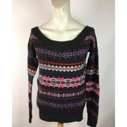 American Eagle Outfitters Sweaters   American Eagle Outfitters Nordic Knitted Sweater   Color: Gray/Red   Size: Xs