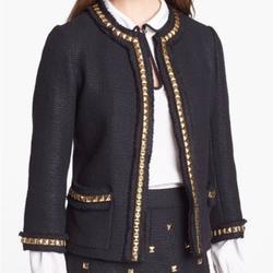 Kate Spade Jackets & Coats | Kate Spade Black Jacket With Gold Studs | Color: Black | Size: 4