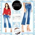 Free People Jeans | Free People Rita Crop Flare Jeans Dark Denim | Color: Blue | Size: Various