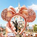 Disney Accessories | Disney Minnie Mouse Rose Gold Ear Headband | Color: Gold/Pink | Size: Os