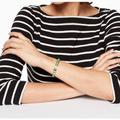 Kate Spade Jewelry | Kate Spade New York Tag Along Cuff | Color: Gold/Green | Size: Os