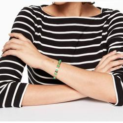 Kate Spade Jewelry   Kate Spade New York Tag Along Cuff   Color: Gold/Green   Size: Os