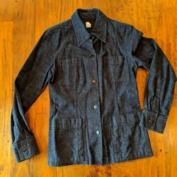 J. Crew Jackets & Coats   J.Crew Black Denim Coat, Size 6   Color: Black   Size: 6