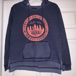 American Eagle Outfitters Tops   American Eagle Hoodie Sweatshirt   Color: Blue   Size: S