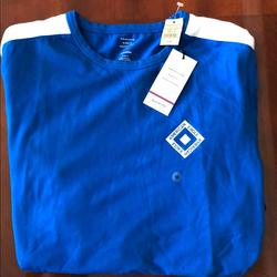 American Eagle Outfitters Shirts   American Eagle Active Ls Shirt   Color: Blue/White   Size: M